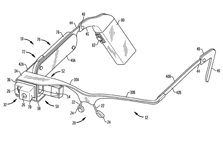 Google Glass patent diagram